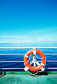 life buoy, life belt, ferry, indonesia