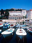 Boats in the harbor of Hvar, Hvar, Dalmatia, Croatia