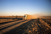 Road Train on Dusty Outback Track, Near Kynuna, Queensland, Australia