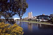 Torrens River and Adelaide City, Adelaide, South Australia, Australia