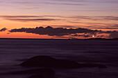 Crack of Dawn and Eddystone Point Lighthouse, Bay of Fires Walk, Tasmania, Australia