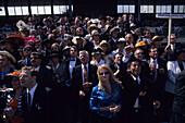 Spectator Excitement at Melbourne Cup Horse Races, Flemington Racecourse, Melbourne, Victoria, Australia