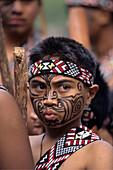 Young Maori Boy, Maori Cultural Festival, Ruatahune, North Island, New Zealand
