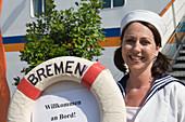 MS Bremen welcome, Kiel, Schleswig-Holstein, Germany