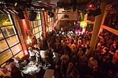 People dancing in the Club Mascotte, the oldest nightclub in Zurich, Canton Zurich, Switzerland