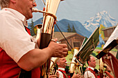 Brass Band and festival with folk music, Lofer, Salzburg, Austria