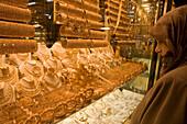 Gold Jewellery at Kapali Carsi Grand Bazaar, Istanbul, Turkey