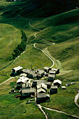 A mountain village, Engadin, Switzerland, Europe