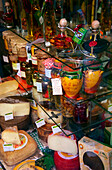 Interior view of a delicatessen at the old town, Palma, Majorca, Balearic Islands, Spain, Europe