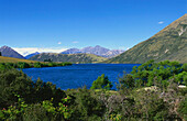 View of a lake at Arthurs Pass, South Island, New Zealand