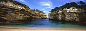Panorama of Loch Ard Gorge, Port Campbell National Park, Great Ocean Road, Victoria, Australia