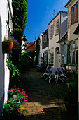 Stuewes Gang, oldtown, Luebeck, Schleswig-Holstein, Germany, Europe