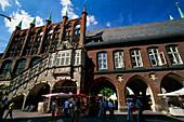 Big street, Town Hall, Luebeck, Schleswig-Holstein, Germany, Europe
