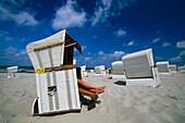 Hooded beach chair, Wangerooge, East Frisia, Germany