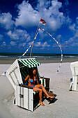 Beach chair, Wangerooge, East Frisia, Germany