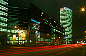 Sony Center at night, Potsdamer Platz, Berlin, Germany