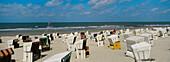 Beach chair, Wangerooge, East Frisian Island, Lower Saxony, North Sea, Germany, Europe