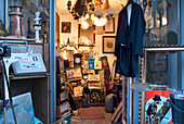 Shopping Antiques in the Store and the Living Room, Adalbertstrasse, Schwabing, Munich, Bavaria, Germany