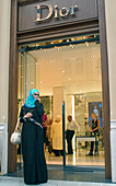 Arabic Women are shopping in the expensive Maximilianstrasse in Munich, Bavaria, Germany
