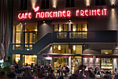 Cafe Muenchner Freiheit, Munich Freedom, Schwabing, Germany, Bar, Restauraunt