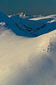 Men, Skier, Snowboarder, Snowy Mountains, Falkertsee, Carinthia, Austria