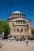 Christian orthodox church Sveta Nedelia in the sunlight, Sofia, Bulgaria, Europe