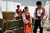 People in traditional costumes at Rose Festival, Karlovo, Bulgaria, Europe