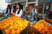 Orange sellers, Santa Lucia, Gran Canaria, Canary Islands, Spain