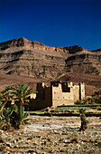 Kasbah at Ouaguzagour in Draa Valley, Marocco, Africa