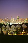 Victorian houses, Alamo Square, San Francisco, California, USA