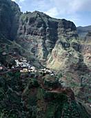 Fontainhas, mountain, village, north-east coast, Island of Santo Antao, Cape Verde Islands/Cabo Verde