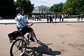 Security outside the White House, Washington DC, United States, USA
