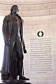 Jefferson Statue, Jefferson Memorial, Washington DC, United States, USA