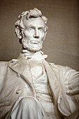 Lincoln Statue, Lincoln Memorial, Washington DC, Vereinigte Staaten von Amerika, USA