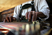 Man playing the zither