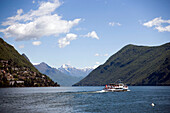 Excursion boat on Lake Lugano, Lugano, Ticino, Switzerland