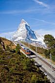 Gornergrat Bahn with Matterhorn (4478 m) in background, Zermatt, Valais, Switzerland