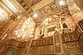 Artful entrance hall of the Oriental Theatre, Randolph Street, Chicago, Illinois, America