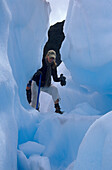 Tour on Franz Fosef Glacier. This glacier is one of the few growing glaciers, New Zealand