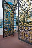 Ornamental Gate to Catherine Palace, Tsarskoye Selo, Pushkin, near St. Petersburg, Russia