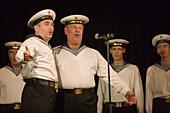 Russian Baltic Fleet Marine Choir, Performance aboard MS Europa, St. Petersburg, Russia