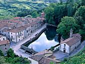 La Peschiera, water basin of Santa Flora, Village at Monte Amiata, Tuscany, Italy