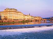 Hotel Weston Excelsior, Ponte alla Caraia, river Arno, Florence, Tuscany, Italy