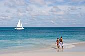 Strandspaziergang am Eagle Beach, Aruba, ABC-Inseln, Niederländische Antillen, Karibik