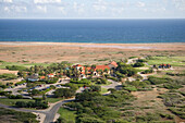 Luftaufnahme vom Clubhaus des Tierra del Sol Golfplatz, Aruba, ABC-Inseln, Niederländische Antillen, Karibik