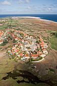 Luftaufnahme von Häusern nahe dem Tierra del Sol Golfplatz, Aruba, ABC-Inseln, Niederländische Antillen, Karibik