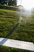 Robert F. Kennedy's grave in the sunlight, Arlington, Virginia, USA