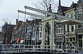 Alkmaar, drawbridge, Netherlands, Europe