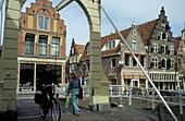 Alkmaar, Zijdam with Kuipersbrug, Netherlands, Europe