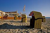 Egmond aan Zee, beach with beachchairs, Netherlands, Europe